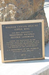 Sign Bingham Canyon Copper Mine, Utah, United States R E Kongaika