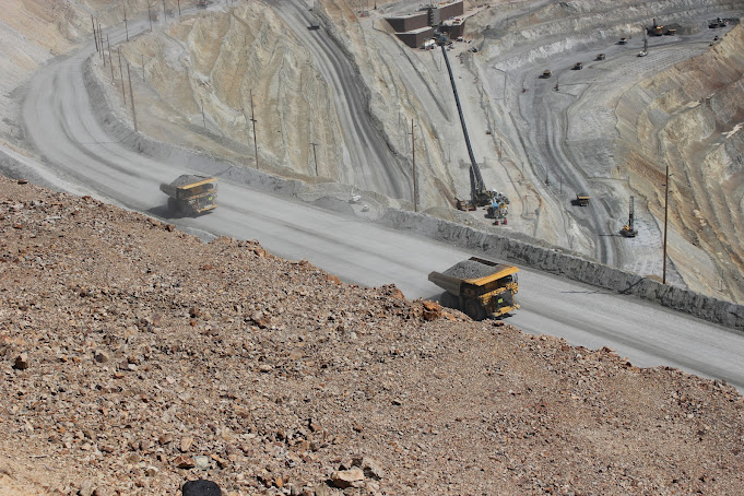 Trucks Haul Earth Bingham Canyon Copper Mine, Utah, United States R E Kongaika
