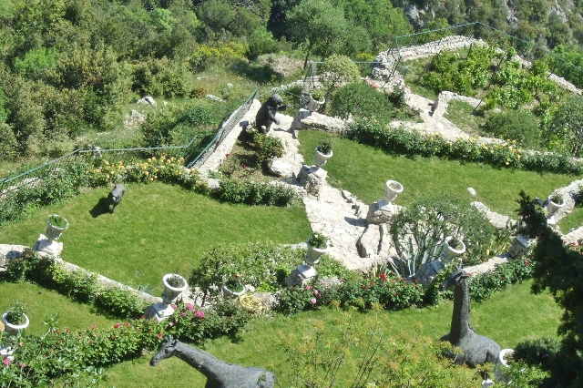 Gardens in Eze, Eze, France