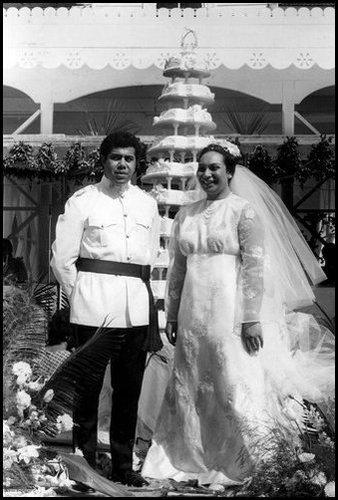 Salote Pilolevu Tuita's wedding cake, Tonga