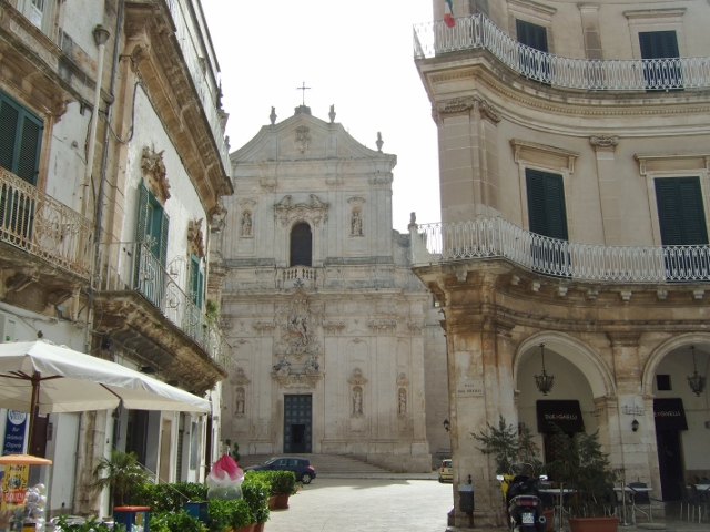 St Martino Basilica in background Martina Franca,, Puglia, Italy