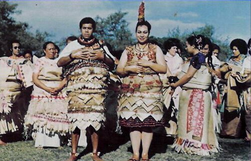 Traditional Tongan wedding attire
