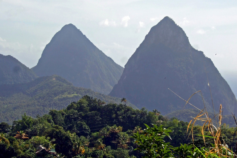 Twin Pitons at Soufriere, St Lucia