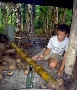 Bamboo Cannon, New Year Celebration, Tonga