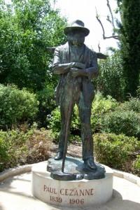 Cezanne statue in Aix-en-Provence