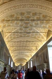 Crowds Inside Vatican Museum Vatican City, Italy