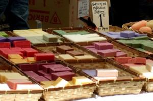 Soaps at market in Aix-en-Provence