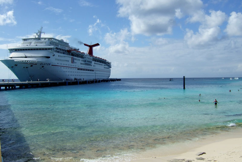 Carnival Elation at Grand Turk port Turks and Caicos