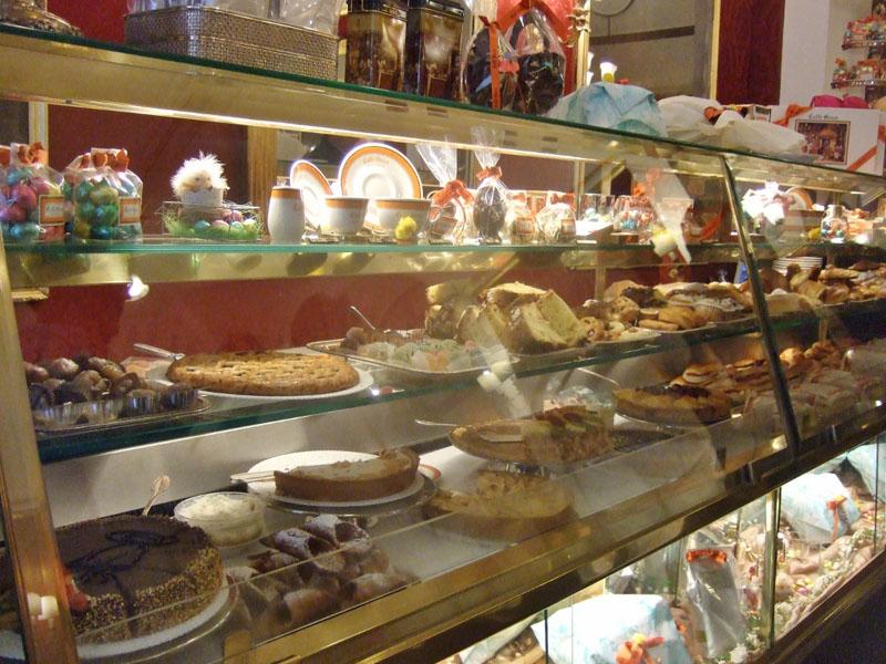 Dolci inside Caffe Greco Rome, Italy