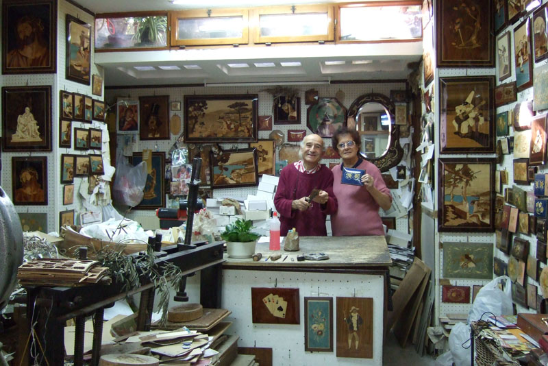 Sorrento wood shop, Italy