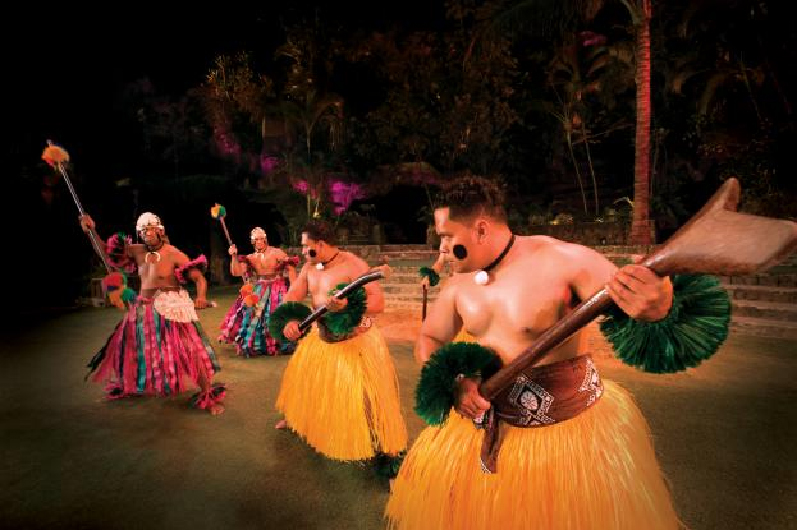 Fijian Dancers at the Polynesian Cultural Center, Hawaii