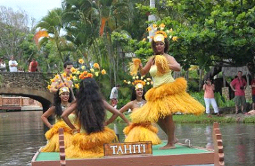 Part of Canoe Pageant at the Polynesian Cultural Center, Hawaii