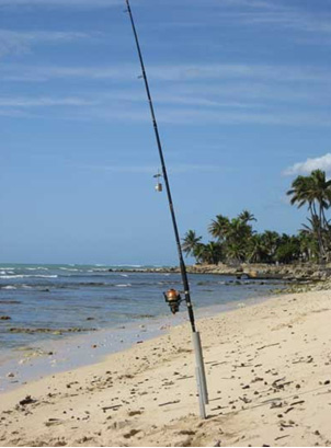 Shore Fishing on Oahu, Hawaii