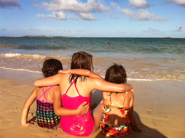 Cousins at the beach on Christmas Day  Copyright Ruth Elayne Kongaika