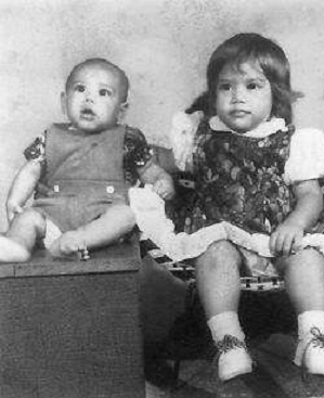 My two babies in Tonga circa 1975 Copyright Ruth Elayne Kongaika