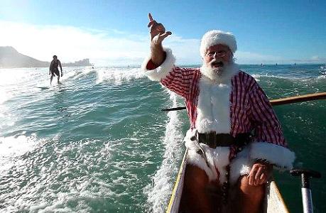 Santa at Waikiki