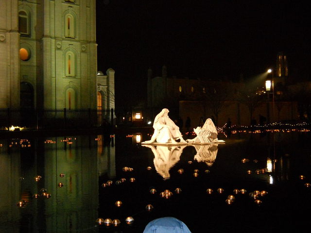 The Nativity on the water near the Temple   Copyright Ruth Elayne Kongaika