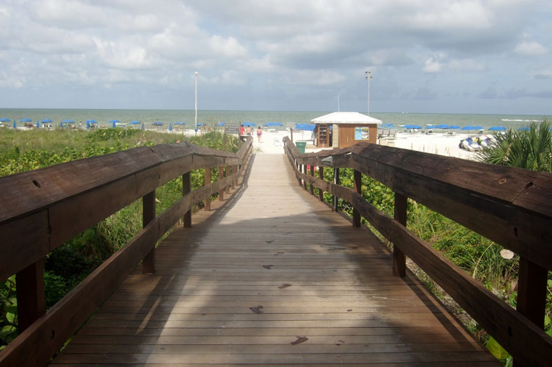 Tigertail Beach entrance at Marco Island, Florida