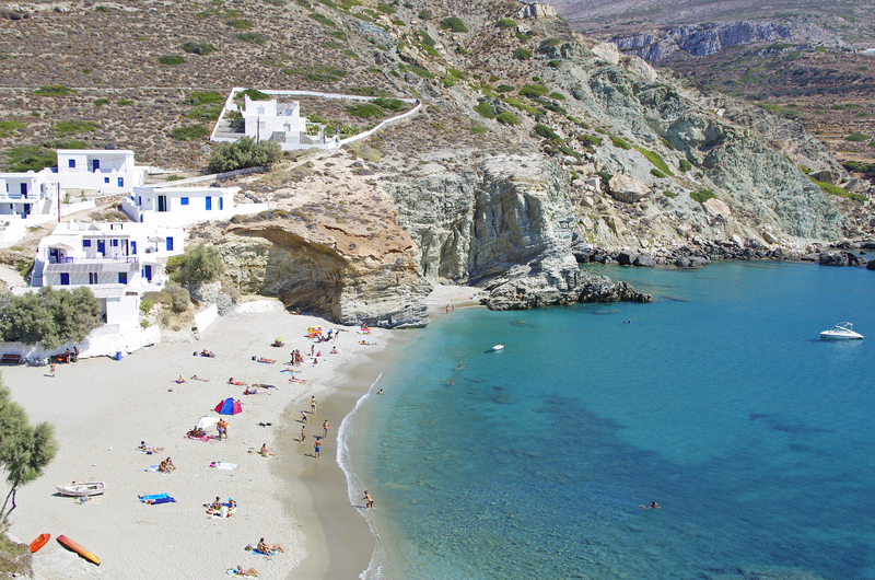 Agali Beach in Foledandros Island Cyclades Greece