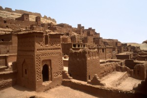 Ksar Ait Benhaddou in Souss-Massa-Dral along the Ouarzazate River. Morocco.