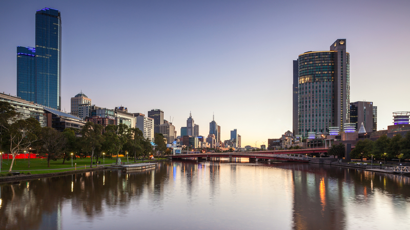 Crown Casino on the Yarra River is the centre of gambling in Australia