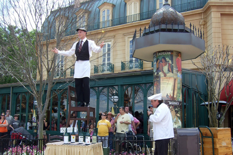 Epcot France Pavilion Mimes Walt Disney World