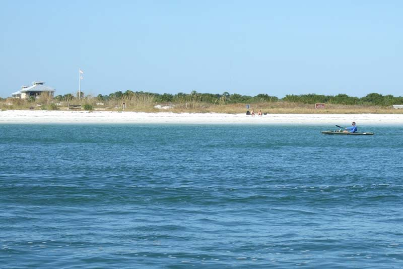 Honeymoon Island from a boat, Florida