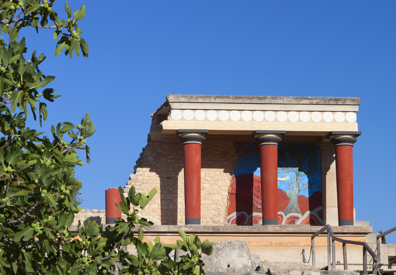 Knossos Palace at Crete Island in Greece