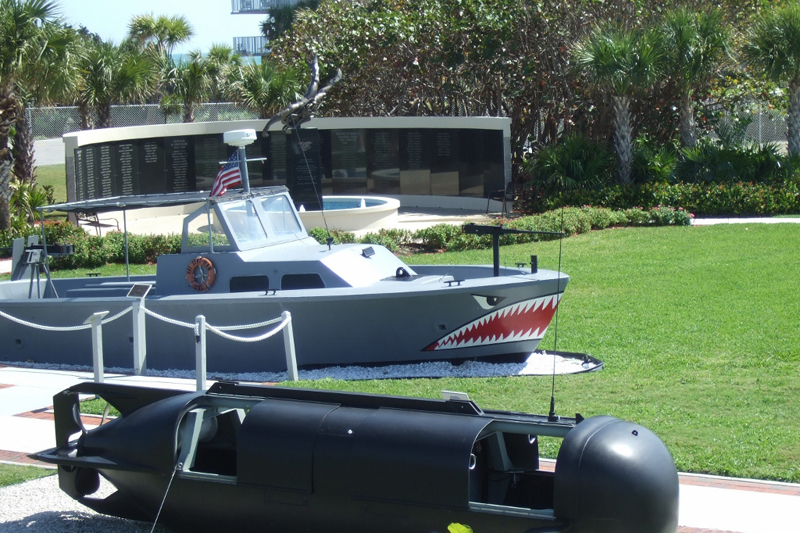Navy Seal Museum outside exhibits Fort Pierce, Florida