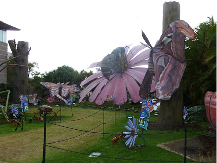 Part of the XTreme Bugs exhibit on the lawn at Bishop Museum, Ruth Kongaika