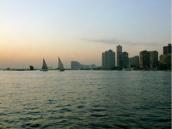 Sailing the Nile near Cairo, Egypt 2013